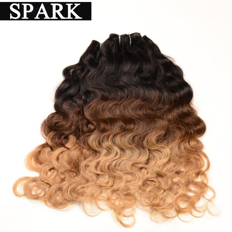 2016 AliExpress 7A Cheap Brazilian Virgin Hair Natural Wave 100%  Human Hair Weave Extensions Ombre Wigs Spark Mocha Hair