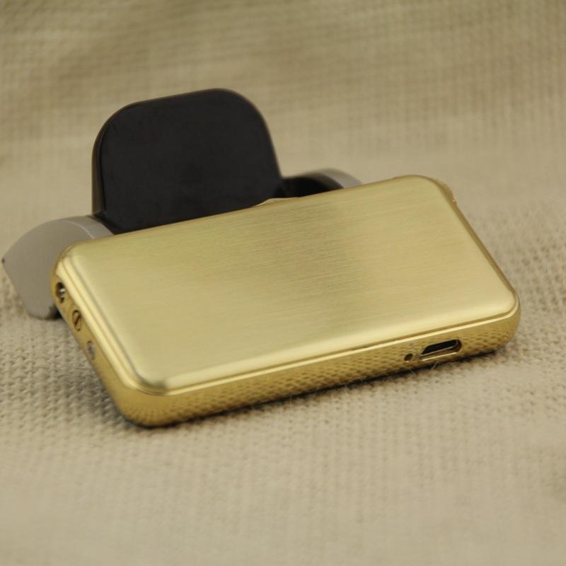 ถูก บุหรี่อิเล็กทรอนิกส์เบาWindproofโลหะบางเฉียบชีพจรUSBชาร์จFlamelessไฟฟ้าArcซิการ์บุหรี่ไฟแช็ก99