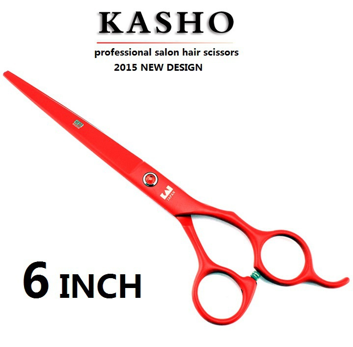 Japan Kasho 6 inch profissional hair scissors hairdressing barber tijeras cutting scissors shears thinning high quality 1pcs