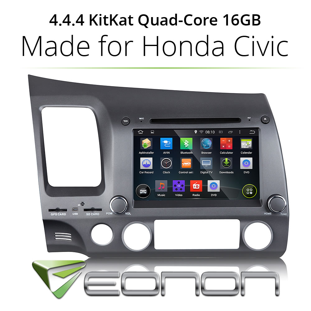 "7"" Android 4.4 Car DVD Player GPS Radio Stereo iPod WiFi 3G for Honda Civic(China (Mainland))"