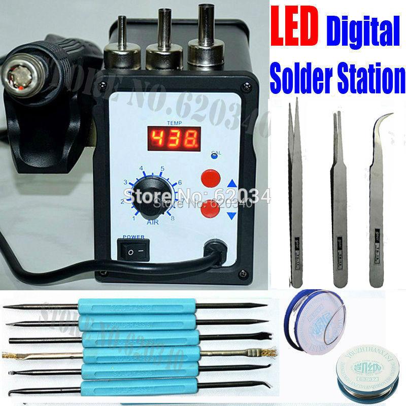 Гаджет  Free shipping 700W 858D ESD Soldering Station LED Digital Solder Iron desoldering station BGA Rework Solder Station Hot Air Gun None Инструменты