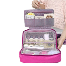Women Korean Version Second Generation High-Capacity travel Cosmetic Bag Wash Bag Storage Bag Multifunctional lady Hook type(China (Mainland))