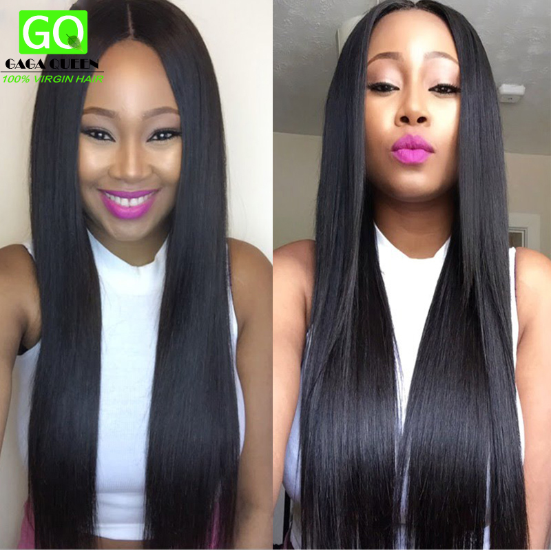 Queens Hair Products Extensions Brazilian Virgin Hair Bundle Deals 4 pc Cheap Straight Weave Online Brazilian Hair Weaving Human