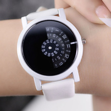 2017 BGG creative design wristwatch camera concept brief simple special digital discs hands fashion quartz watches for men women(China)