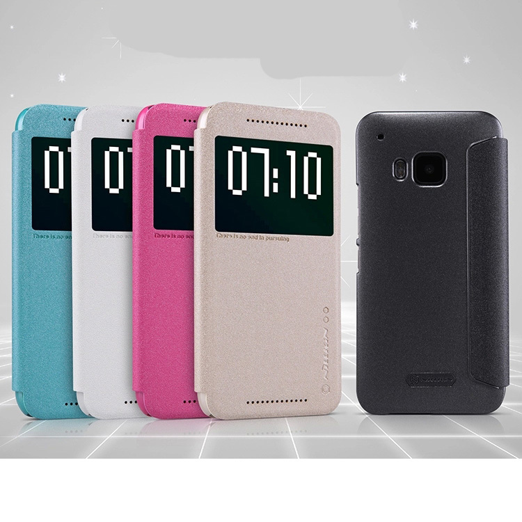 Original Nillkin Smart leather Frosted feel Case Cover For HTC ONE M9(China (Mainland))