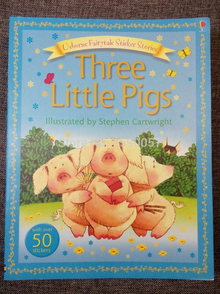 Free shipping The original English childrens picture books in English storybook children of Enlightenment Three Little Pigs<br><br>Aliexpress