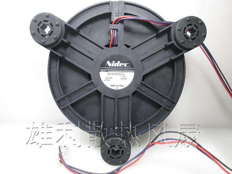 Original NIDEC GW12E12MS1AZ-52 12V 0.33A round refrigerator cooling fan(China (Mainland))