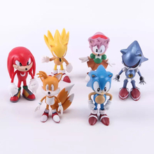 6Pcs/set Sonic the Hedgehog action figure toys 6cm PVC Sonic model dolls decoration toy Kids gift brinquedos