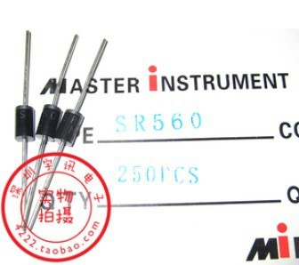 Free shipping 50PCS SR560 SB560 5A 60V Schottky diode rectifier diode
