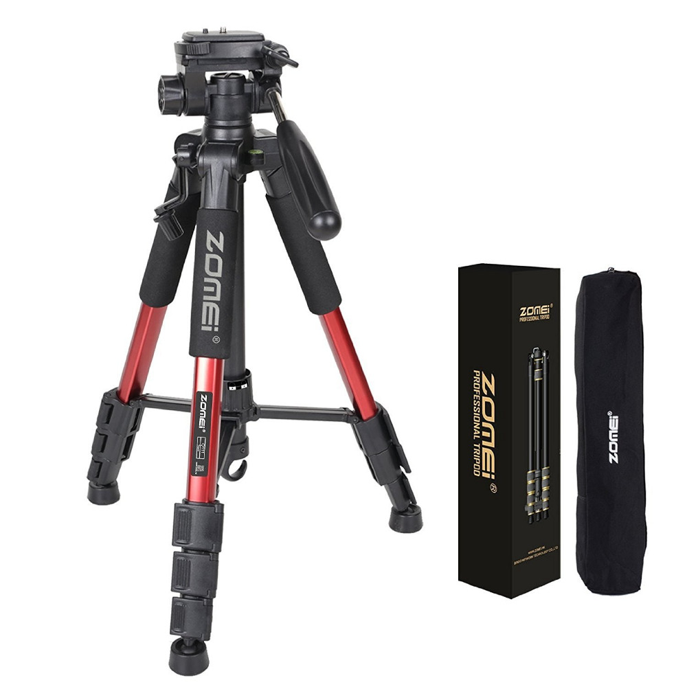ZOMEI Q111 Professional Portable Travel Aluminum Camera Tripod&Pan Head for SLR DSLR Digital Camera Three color(China (Mainland))