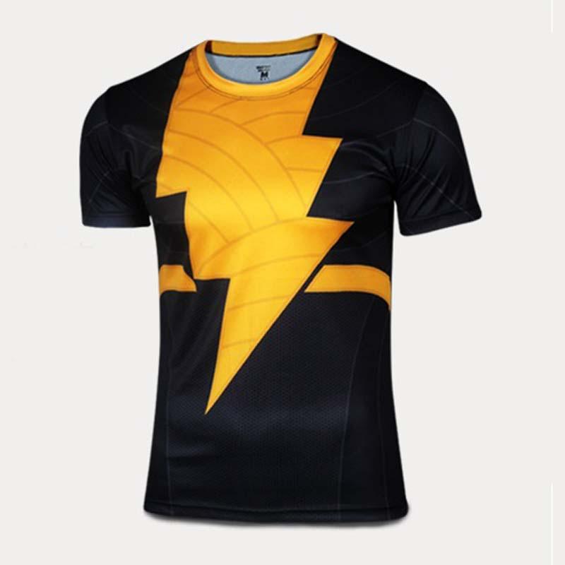 NEW Black Adam Shirts Marvel Compression shirt superhero tee shirt Men Gym Quick dry t-shirt Camisa masculina Plus size xxxl 4xl(China (Mainland))