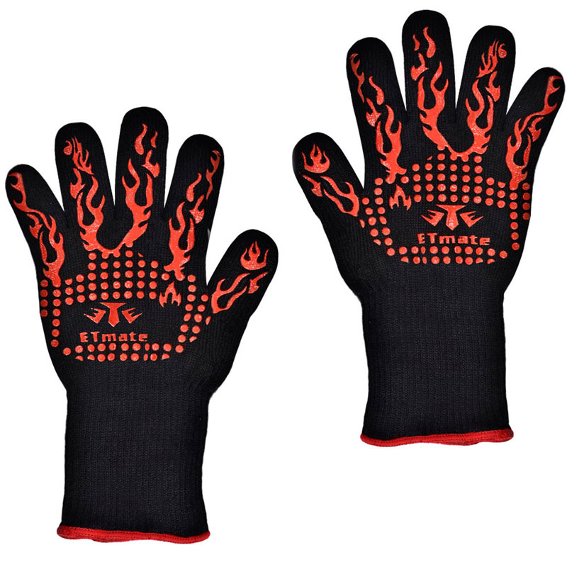TTLIFE Thick Silicone - 932F Heat Resistant Multi-Purpose Baking Opening Jars Baking Gloves Barbecue Glove Grilling BBQ Gloves(China (Mainland))