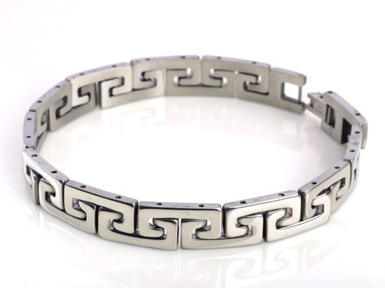 New-Men-s-High-Quality-Stainless-Steel-Bracelet-Silver-Link-Black-Rubber-Bangle (4)