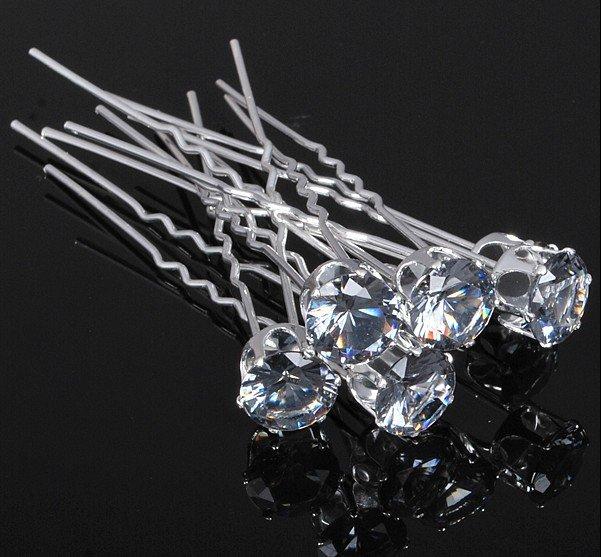 200pcs/lot Free Shipping Bling Bling Big Crystal Hair Pins, Wedding Party Hair Accessories, Fashion Bride Bridesmaid Hair Clips