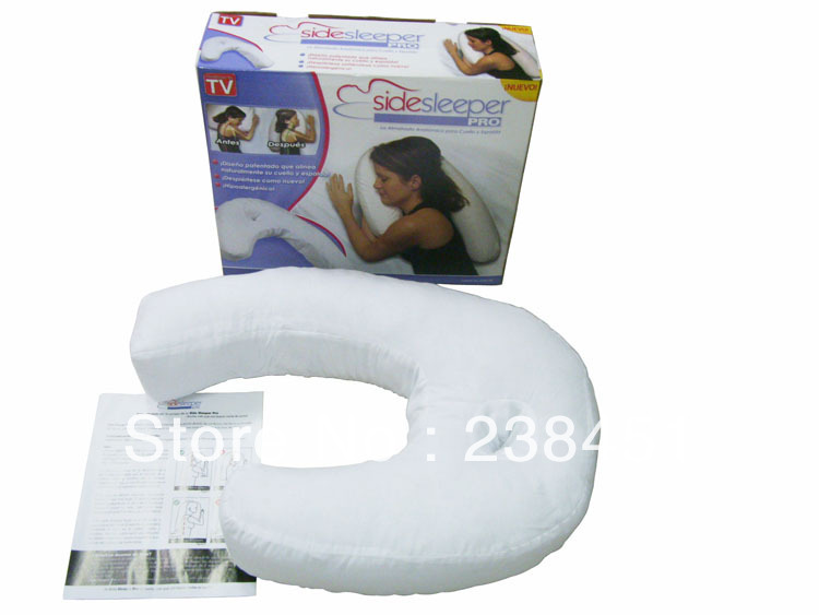 Free shipping, Side Sleeper pro massage function treatment of cervical vertebra sleeper pillow(China (Mainland))