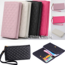Women Multifunction PU Leather Flip Card Wallet Purse Phone Case Cover For Blackberry 9550(China (Mainland))