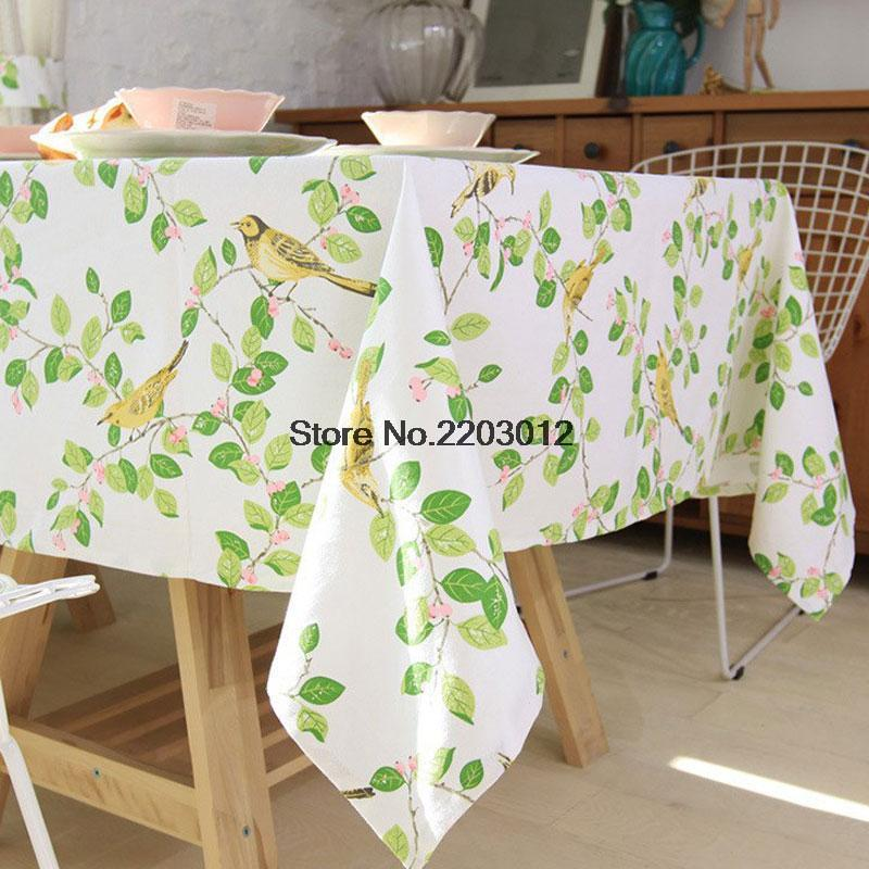 New arrivals Happy Zero table cloth with green leaves universal rectangular tablecloths dustproof for wedding home use hot sale(China (Mainland))