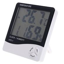 Htc-1 LCD Digital de temperatura humedad del metro del termómetro de escritorio / reloj de pared