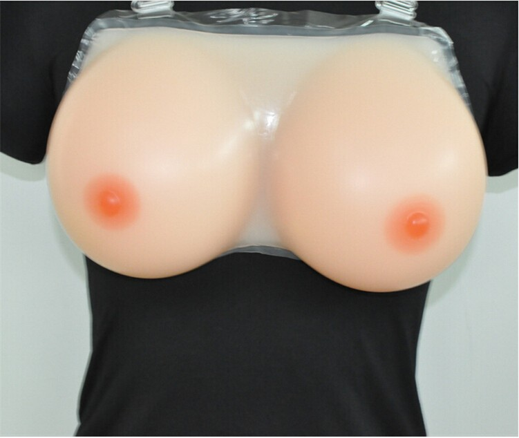 1 KG Strap-on D CUP SIZE Full silicone One-piece plump false boobs fake breast artificial crossdresser realistic free shipping l cheap