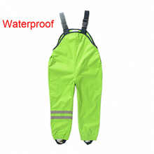 New 2016 Boys Girls Waterproof Overalls Kids 2-7Yrs Children Autumn Sport Pants German Brand Outdoor Suspenders Trousers 520(China (Mainland))