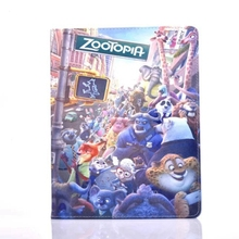 Zootopia All animals PU Leather Stand Flip Case Cover for Apple Tablet iPad2/iPad3/iPad4(China (Mainland))