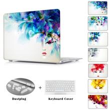 Artístico Lady Rosto Duro de Cristal Tampa Da Caixa de Proteção para Macbook ar 11 13 Nova 12 polegada Pro 13 15 laptop manga(China (Mainland))