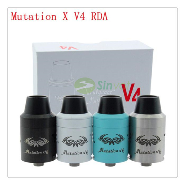 2015 the crazy sell Mutation X V4 RDA new Atomizers 1:1 Clone Rebuildable Atomizer tank With Wide drip tip free ship()