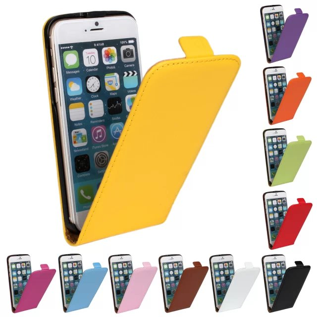 Wholesale Genuine Leather Case for iPhone 6 , With Magnetic Flip Case Cover for iPhone 6 4.7 inch(China (Mainland))