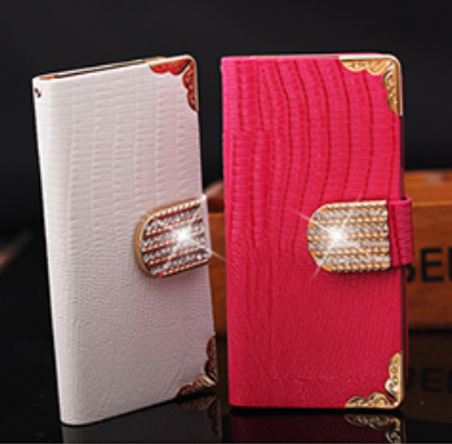 Luxury Bling Diamond Rhinestone Flip Wallet Card Slots Magnetic Leather Cases Cover For iphone 4 4S 5 5S For iphone 6 Handbag