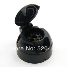 Tirol 7-Pin Trailer Socket  Black Plastic 7-Pole Trailer 12V Towbar Towing Socket N Type -Vehicle End T13432  d(China (Mainland))