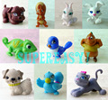 Random 5Pcs Littlest Pets Figure Doll Accessories Cute Animal Toy Pretend Play Kids Gift