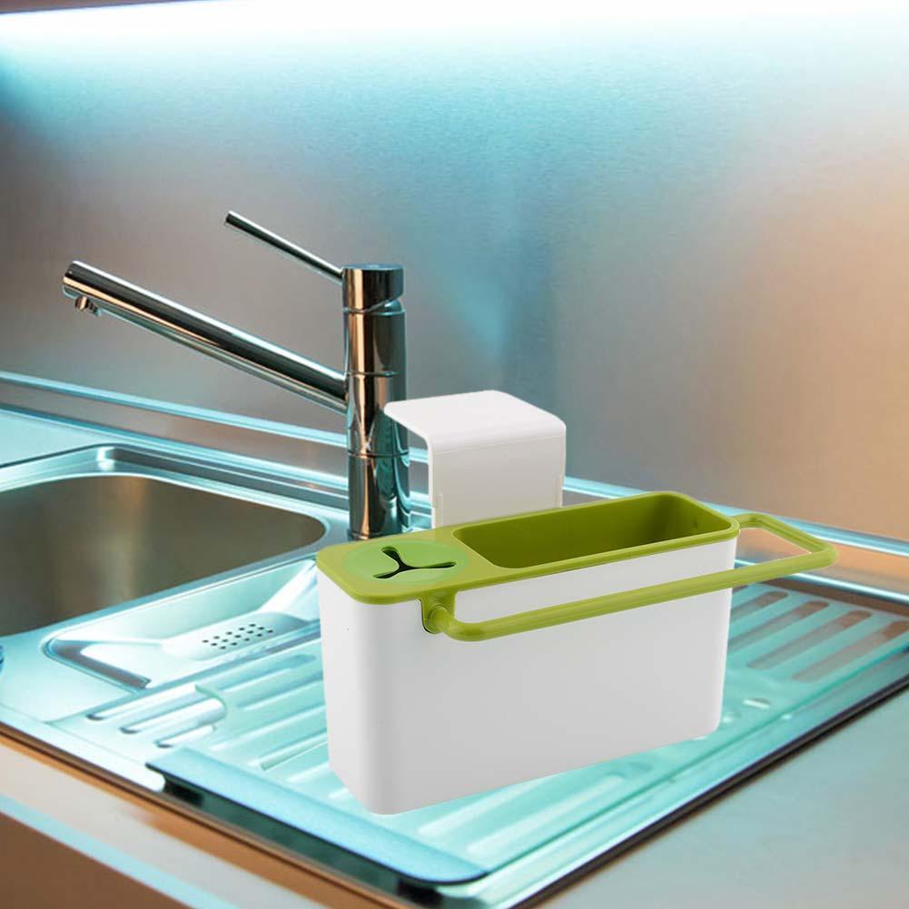 Suction Cup Base Kitchen Brush Sponge Sink Draining Towel Rack Washing Holder kitchen storage furniture kitchen drainer rack(China (Mainland))