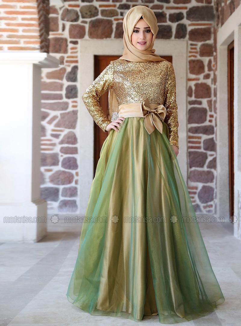 Gold long dress malaysia