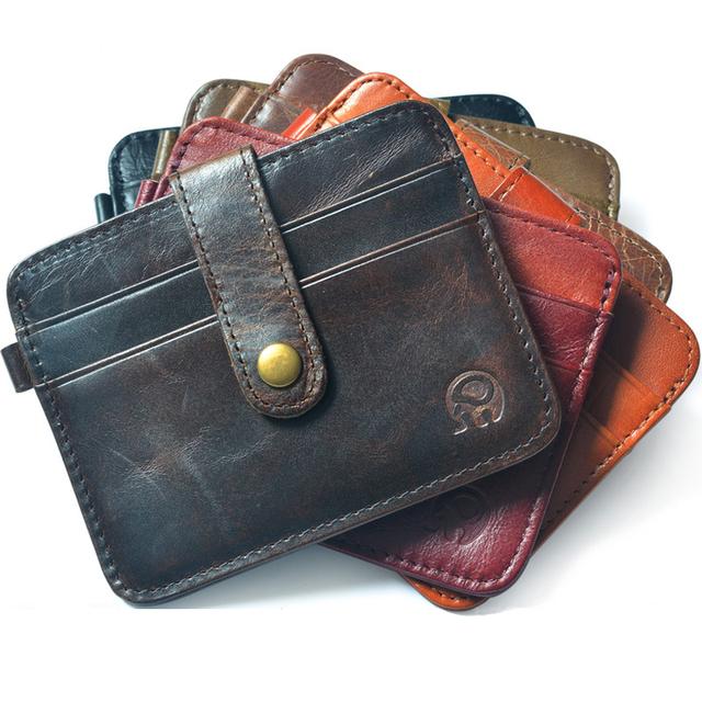Мини бумажник настоящее crazy horse кожаный бумажник женский кошелек мужчины бумажник ...