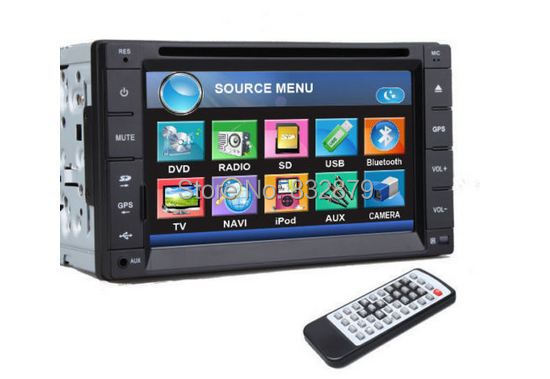 7 INCH Double 2 Din Car DVD Player FM AM Radio Ipod TV Bluetooth Call Music Video Audio In Deck Stereo BT PC Head Unit GPS Optio(China (Mainland))