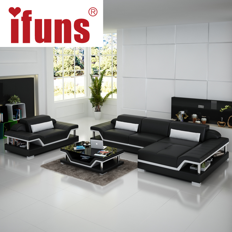 Ifuns salon furniture manufacturer modern design living for Sofas modernos en l