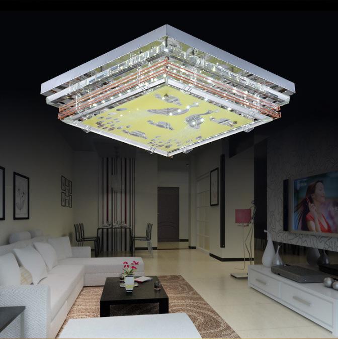 Led Ceiling Lights For Dining Room : Modern minimalist ceiling light e crystal led