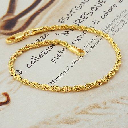 fashion jewelry, twist 18k yellow gold filled bracelet,18k bangle 18k bracelet bangle ,gold bracelet
