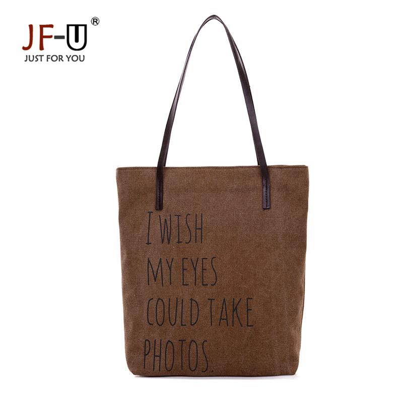 JF-U Large Space Women Canvas Handbag Zipper Shopping Shoulder Bag Girls Beach Bookbag Casual Tote Fashion Sac Femme Bolso Mujer(China (Mainland))