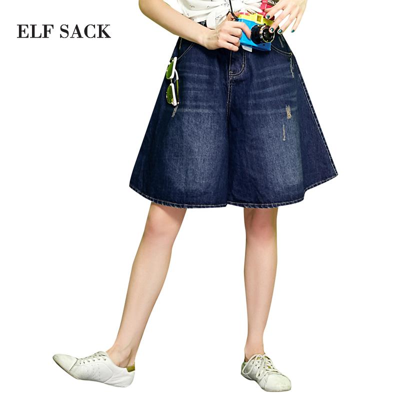 Compra hasta la rodilla pantalones cortos de jean online for Agujeros femeninos