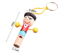 Hot sale MINI wooden pirate whistle wood toys new s gift Colorful Wood Whistle Toys For
