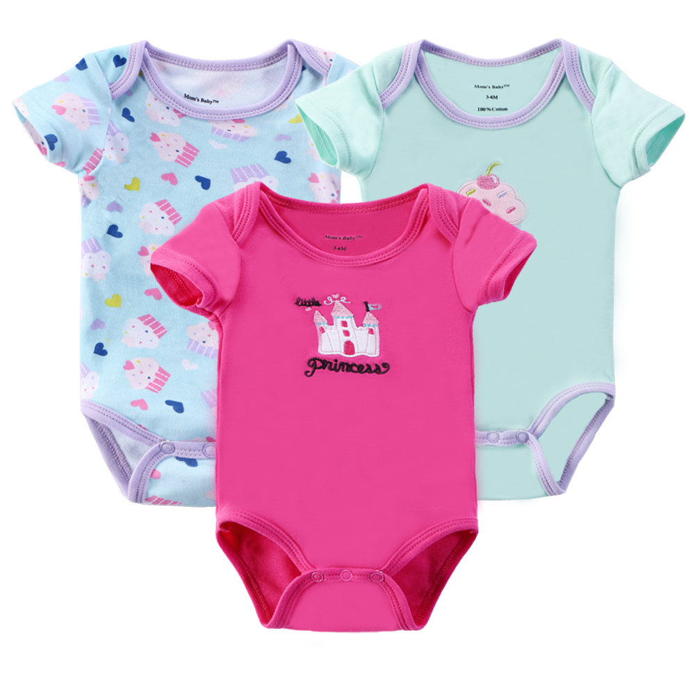 0-9M Baby Girl Rompers Newborn Babies Girls Clothes In Summer Body Baby Bebe Pink Red Yellow Jumpsuit Cotton Clothing Sets(China (Mainland))