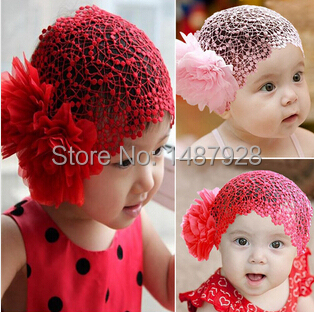 Fashion Flower Headband Newborn Baby Girl Lace Elastic Hairband Hair Accessories for 6-24 Months Baby A089-1(China (Mainland))
