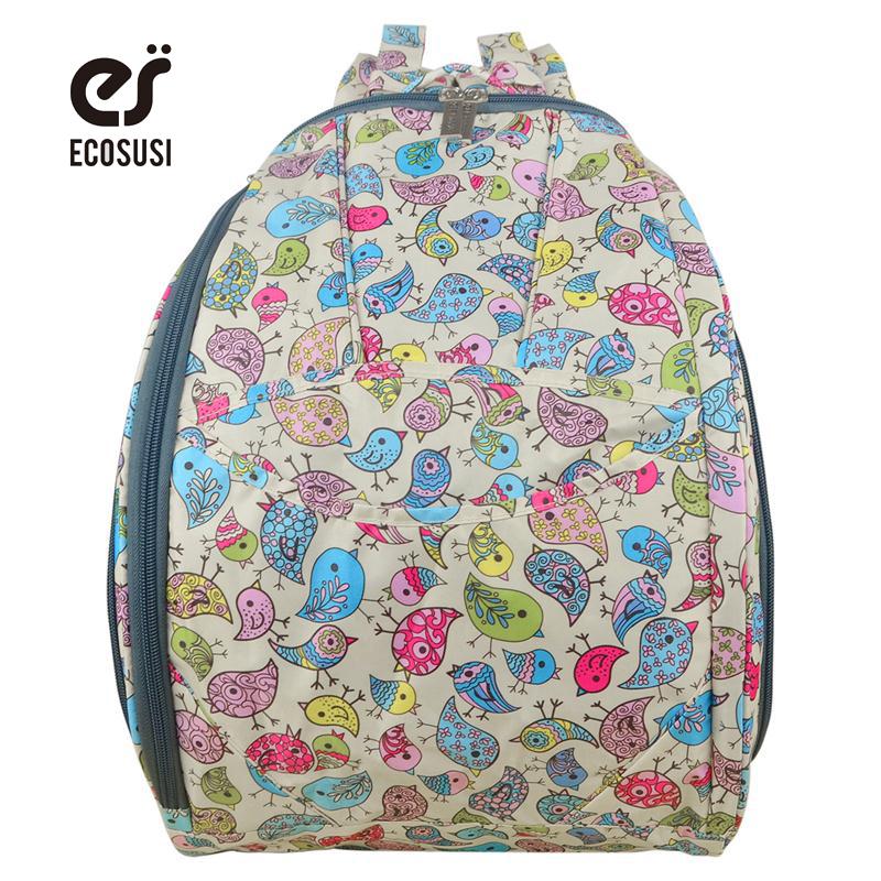 Ecosusi Multifunctional Bolsa Maternidade Baby Diaper Bags Baby Nappy Bags Mummy Maternity Bag Lady Handbag Shoulder Backpack(China (Mainland))