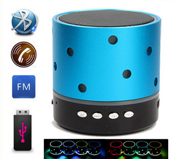 [해외]미니 블루투스 스피커 다채로운 LED 휴대용 Wileress Spe..