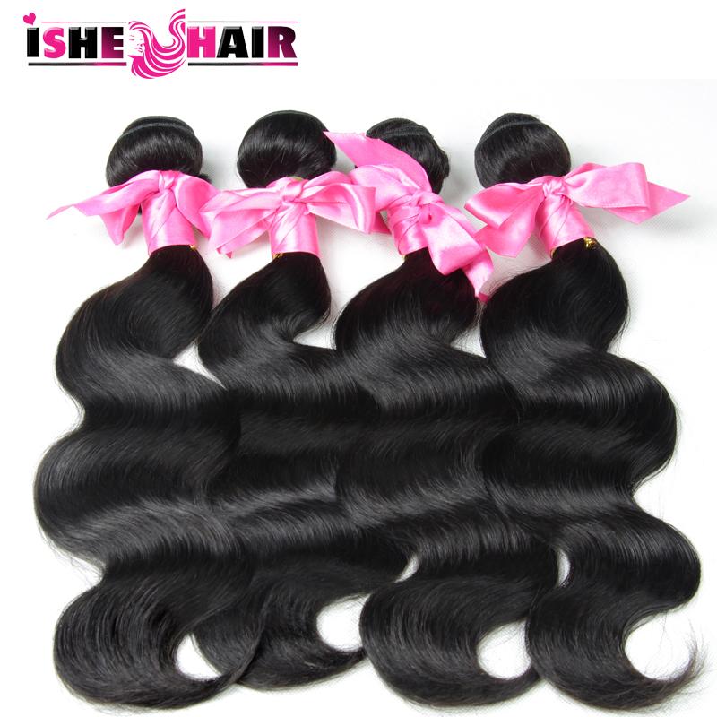 Здесь можно купить  Unprocessed Malaysian virgin hair body wave 4 bundles malaylian body wave human hair nature color #1B hair extensions  Волосы и аксессуары