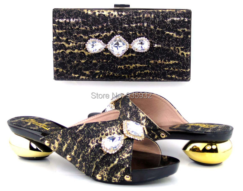 very graceful african shoes and bag set for party italian style Casual shoes with crystal for lady! GT2207-96(China (Mainland))