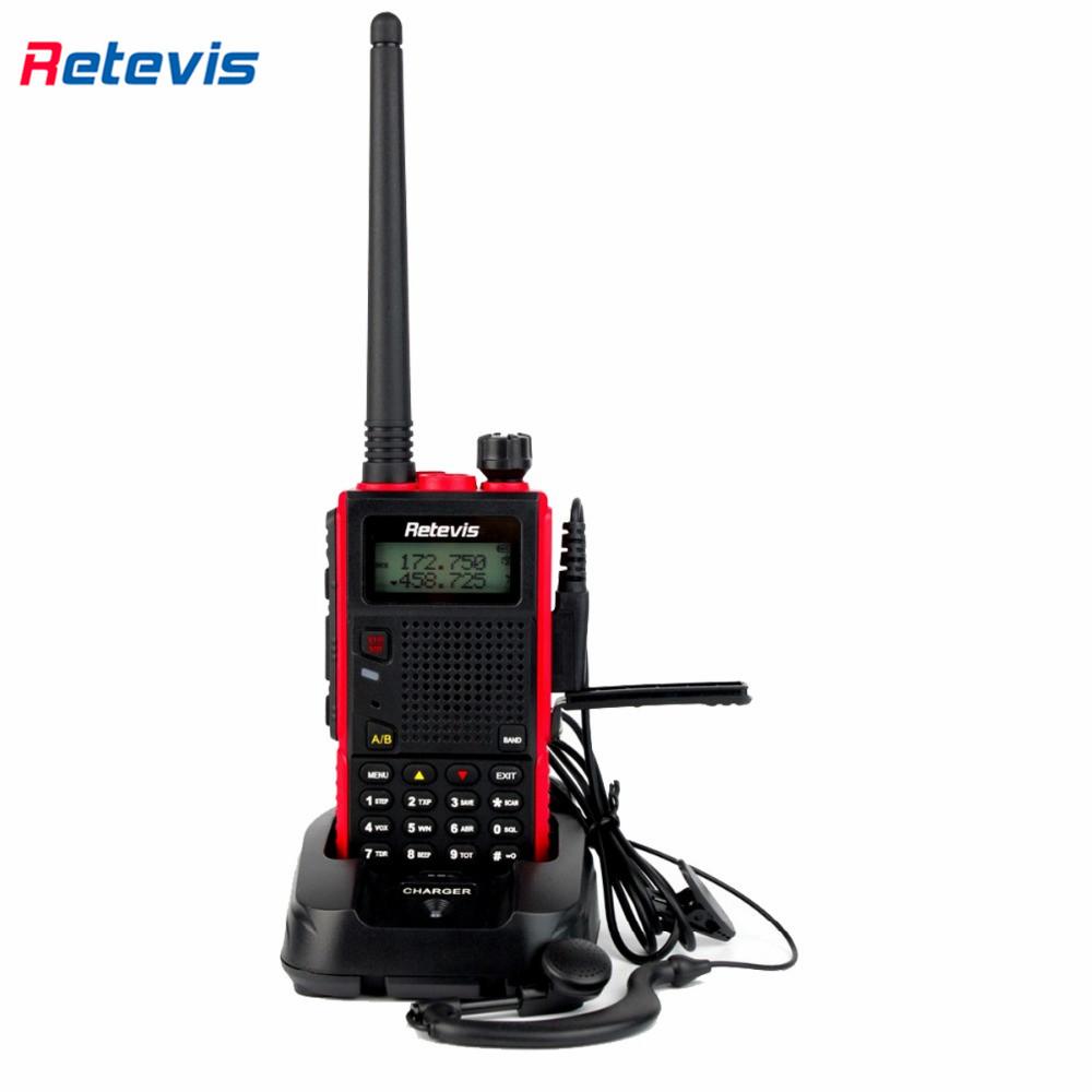 Walkie Talkie Retevis RT5 VHF+UHF136-174+400-520MHz 8W 128CH Ham Radio HF Transceiver Scan VOX Two Way Radio Portable A9108A(China (Mainland))