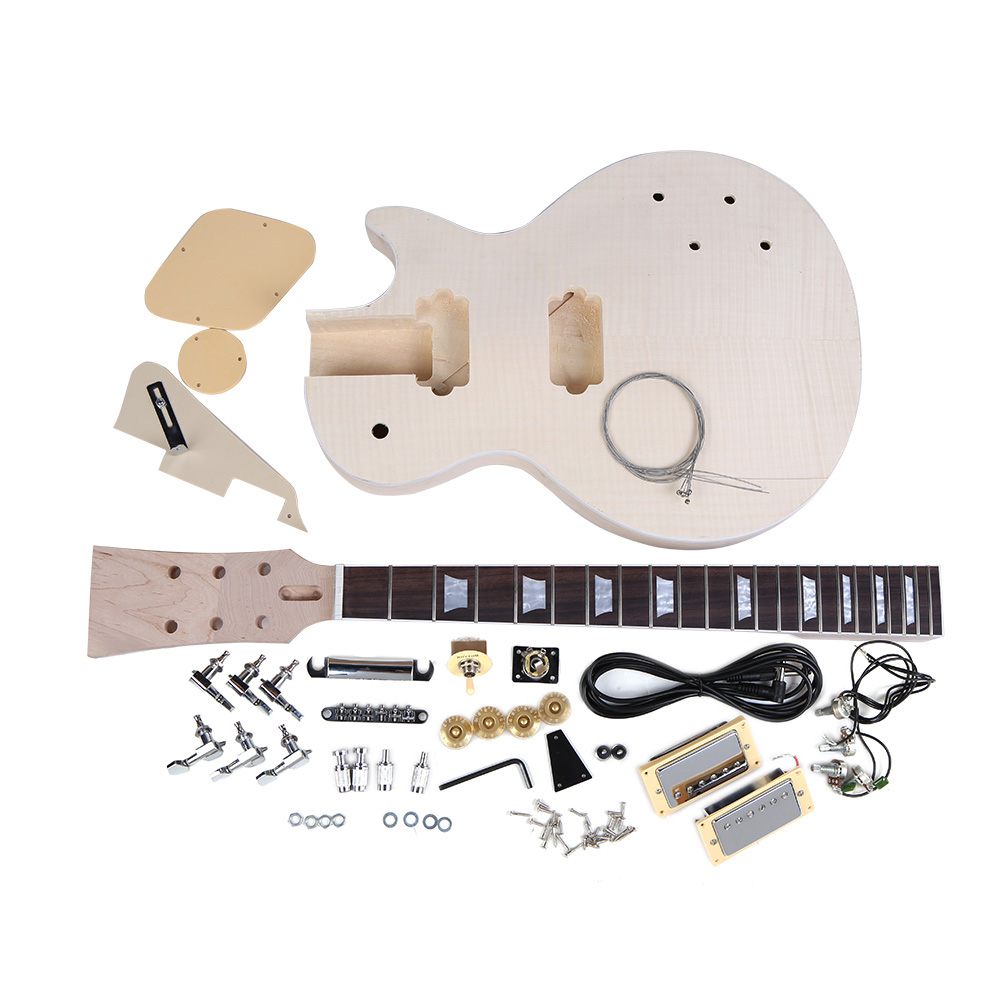 Hot Sale High Quality Electric Guitar DIY Kit Set Mahogany Body Rosewood Fingerboard Guitar Set for Guitar Lovers(China (Mainland))