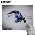 League of legends zed printed pattern gaming mouse pads durable silicone notebook mice mat